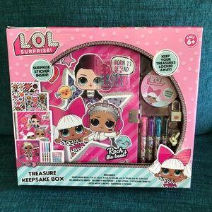 Lol Surprise Treasures Keepsake Box Stickers Pens!